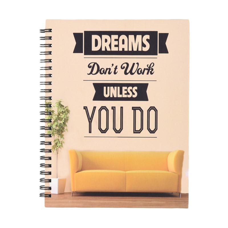 Karisma 749148 Double Wire Kwarto Dreams Don't Work Unless You Do Buku Tulis