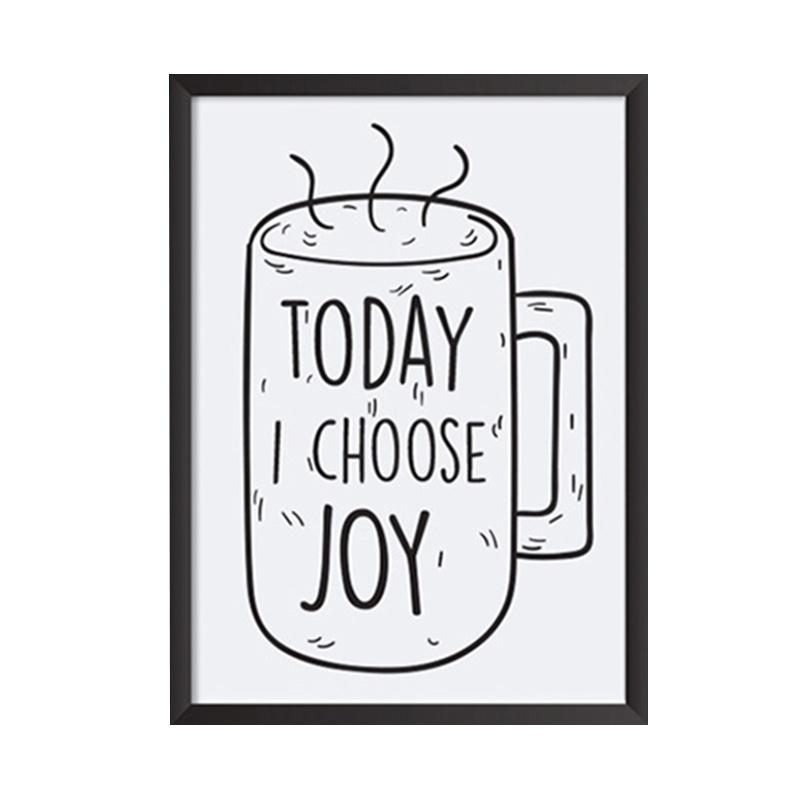 Cadrehome Today I Choose Joy 5R Dekorasi Dinding