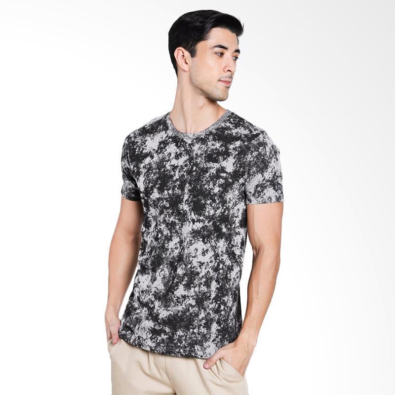 3SECOND Men 4012 T-Shirt Pria - Grey