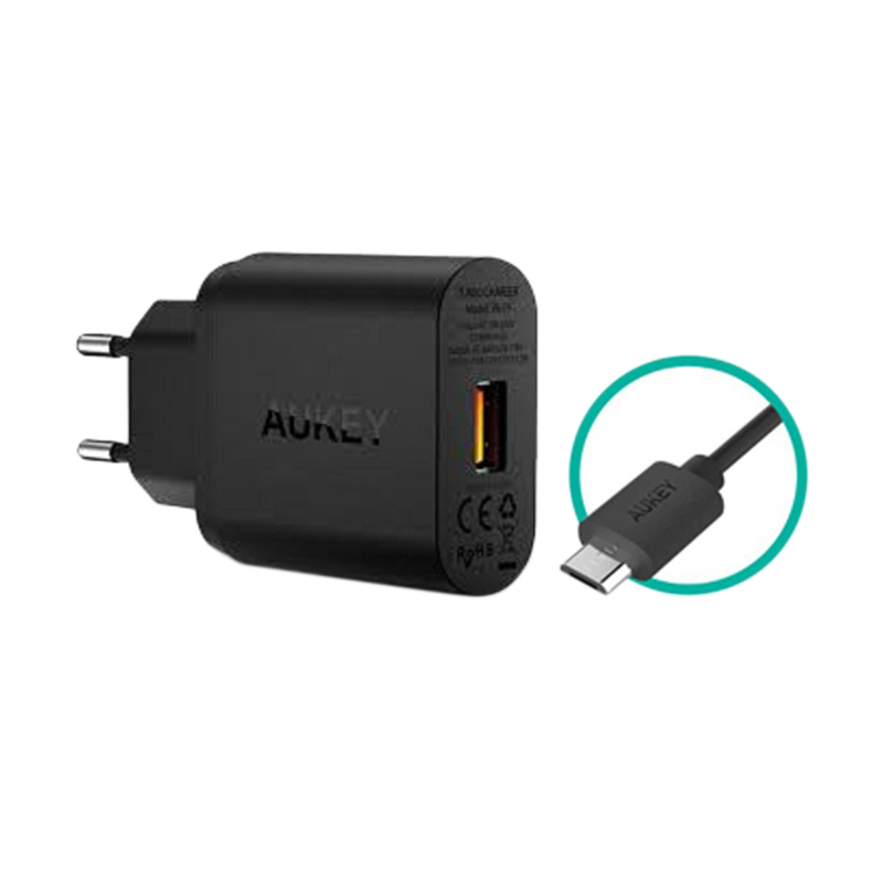 AUKEY PA-T9 Turbo Charger with Quick Charge 3.0 - Hitam