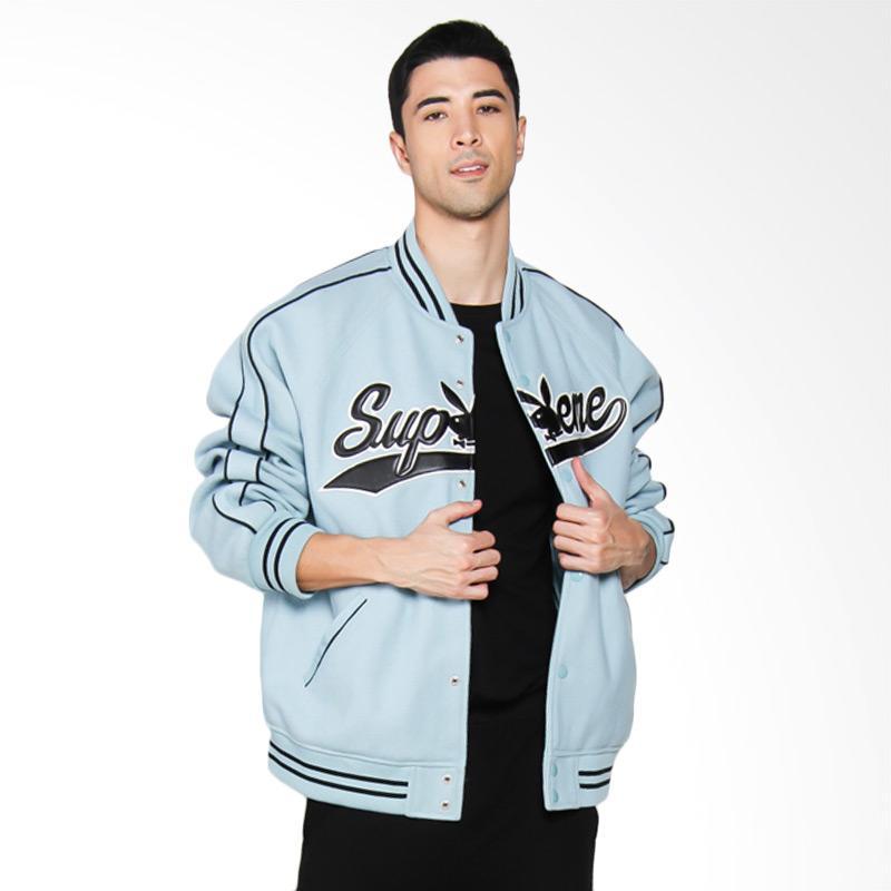 Playboy Wool Varsity Jacket Blue