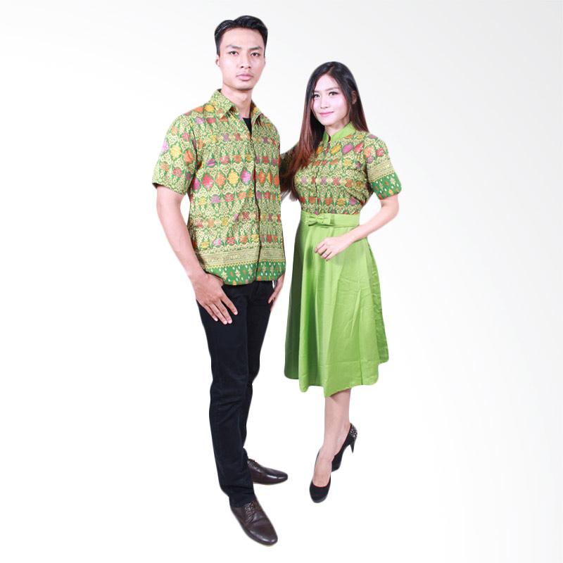 Batik Putri Ayu Solo SRD502 Batik Sarimbit Couple - Hijau Muda