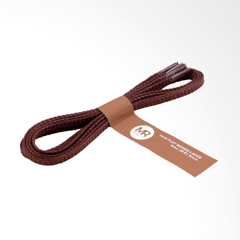 Jual Mr.Shoelaces Lilin Gepeng Tali Sepatu - Miso Brown [5 mm/120 cm] Online - Harga