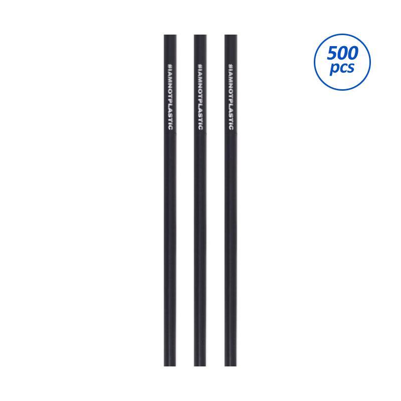 Avani PLA Straw #IAMNOTPLASTIC Sedotan Minuman - Black [8 x 197 mm/500 pcs]