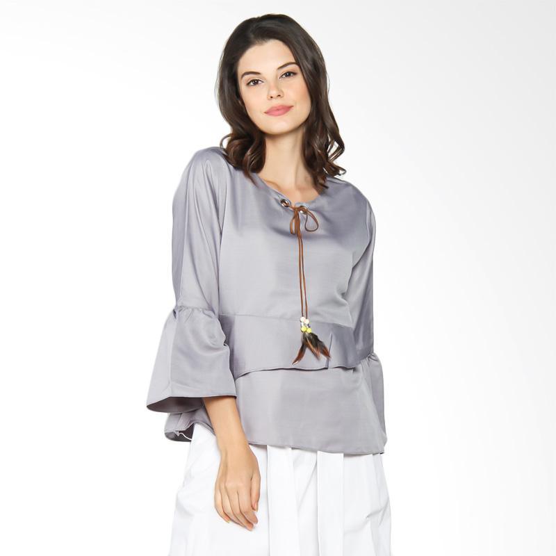 Jening Batik WMS JBW022 Blouse - Grey