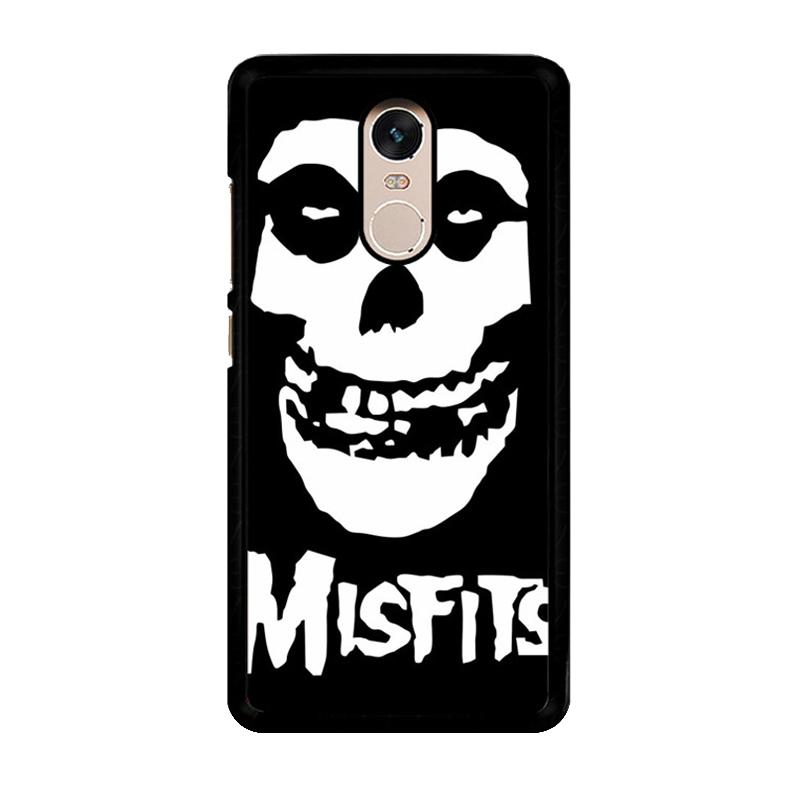 Flazzstore Horror Punk Rock Band Misfits Skull Z0506 Custom Casing for Xiaomi Redmi Note 4 or Note 4X Snapdragon Mediatek