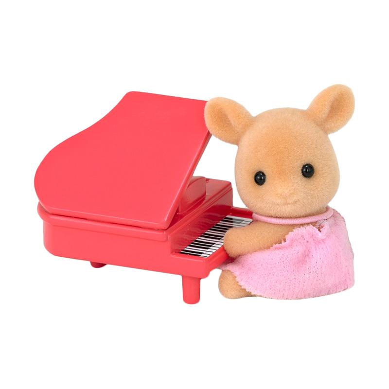 Sylvanian Families Deer Baby with Piano Mainan Anak