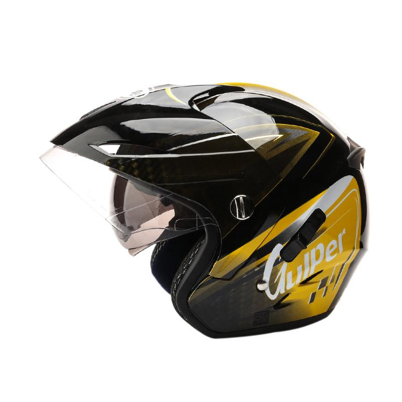 harga Gulper Series Helm Half Face - Engine Black Yellow - CB Blibli.com