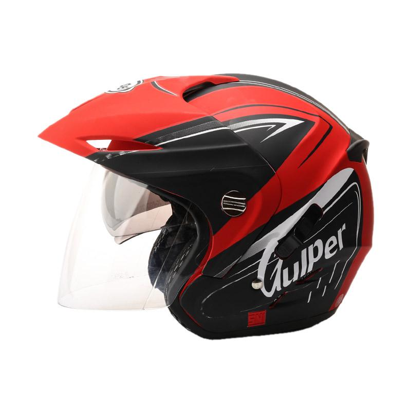 harga Gulper Series Helm Half Face - Solar Red Doff Black Blibli.com