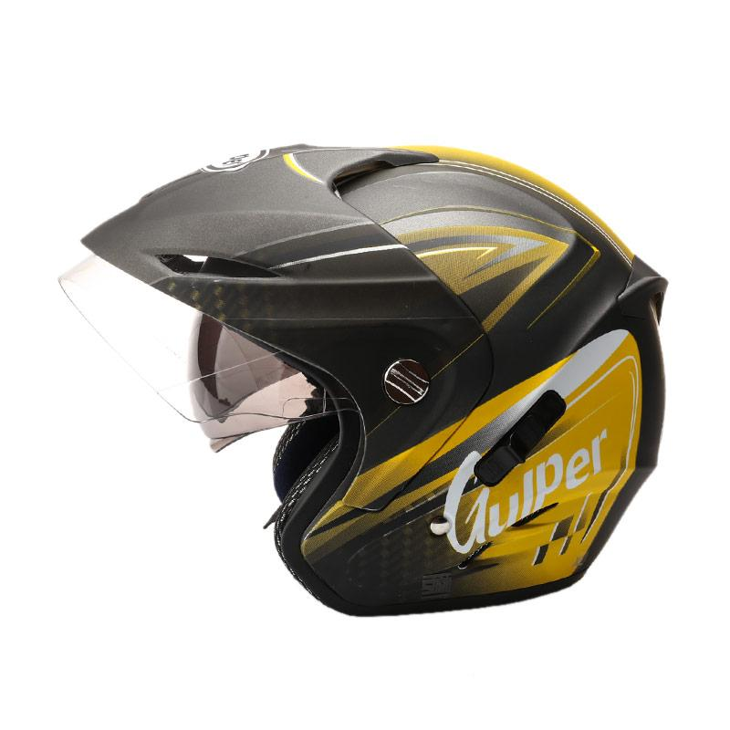 harga Gulper Series Helm Half Face - Gunmet Yellow Doff Blibli.com