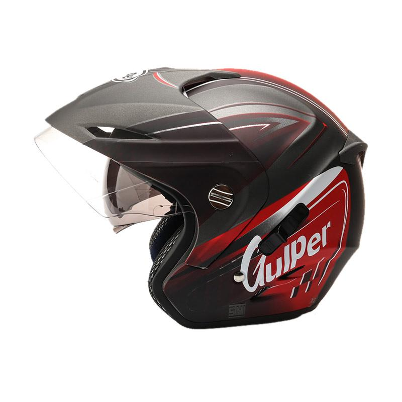 harga Gulper Series Helm Half Face - Gunmet Red Doff Blibli.com