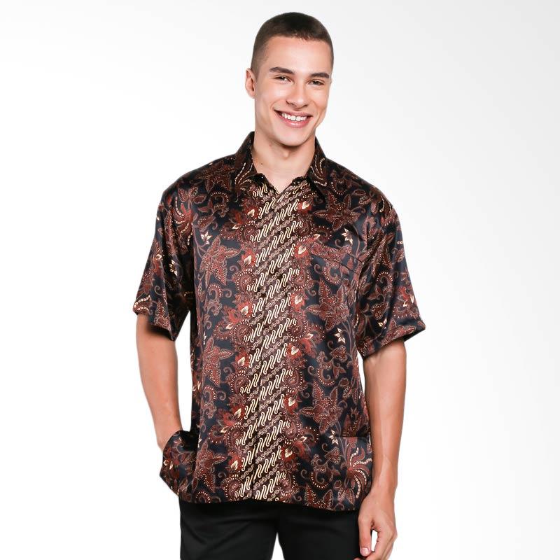 Blitique Aryan Kucewara Kemeja Batik Pria - Hitam
