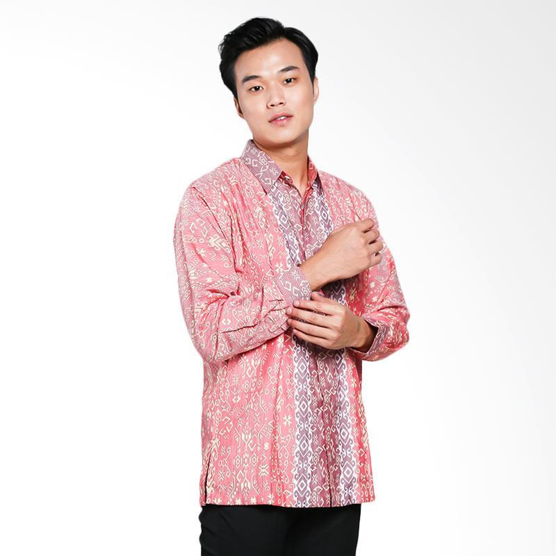 Blitique Abimayu Anyelir Batik Kemeja Pria - Merah