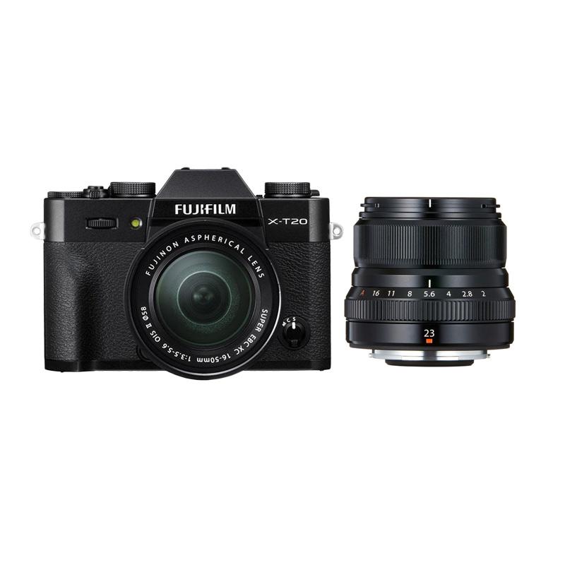 harga Fujifilm X-T20 16-50mm Kamera Mirrorless - Black + XF 23mm f2 Black + Fuji Instax Share SP2 Blibli.com