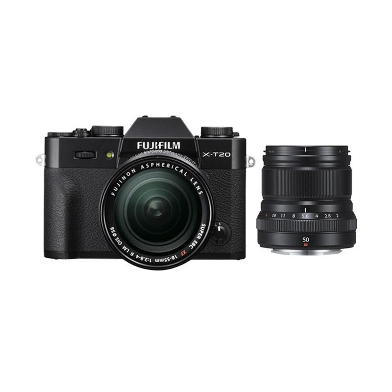 harga Fujifilm X-T20 18-55mm Kamera Mirrorless - Black + XF 50mm f2 Black + Fuji Instax Share SP2 + Baterai NPW-126S (BY CLAIM) Blibli.com