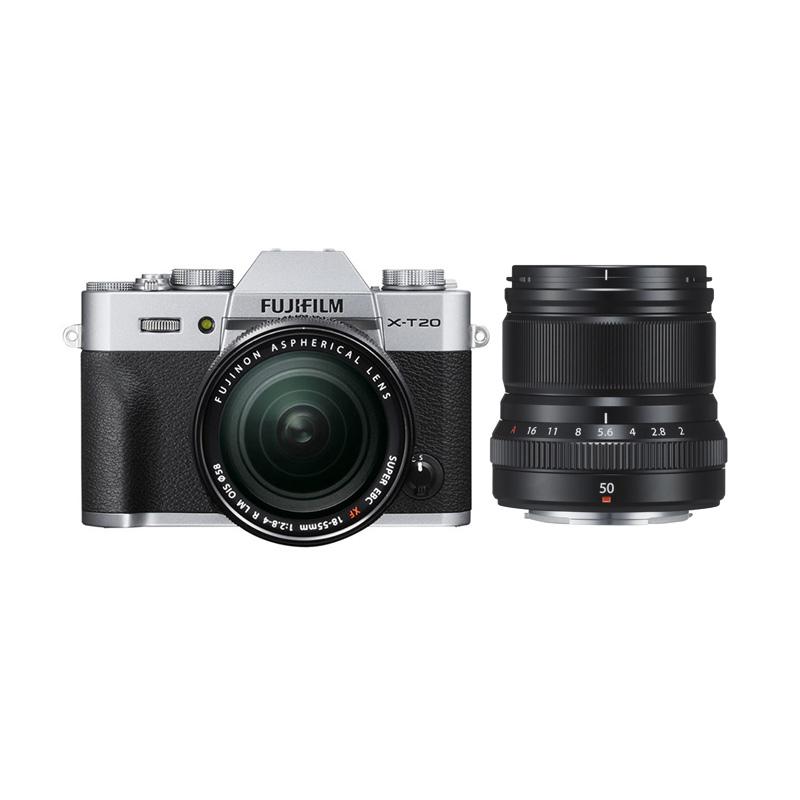 harga Fujifilm X-T20 18-55mm Kamera Mirrorless - Silver + XF 50mm f2 Black + Fuji Instax Share SP2 + Baterai NPW-126S (BY CLAIM) Blibli.com