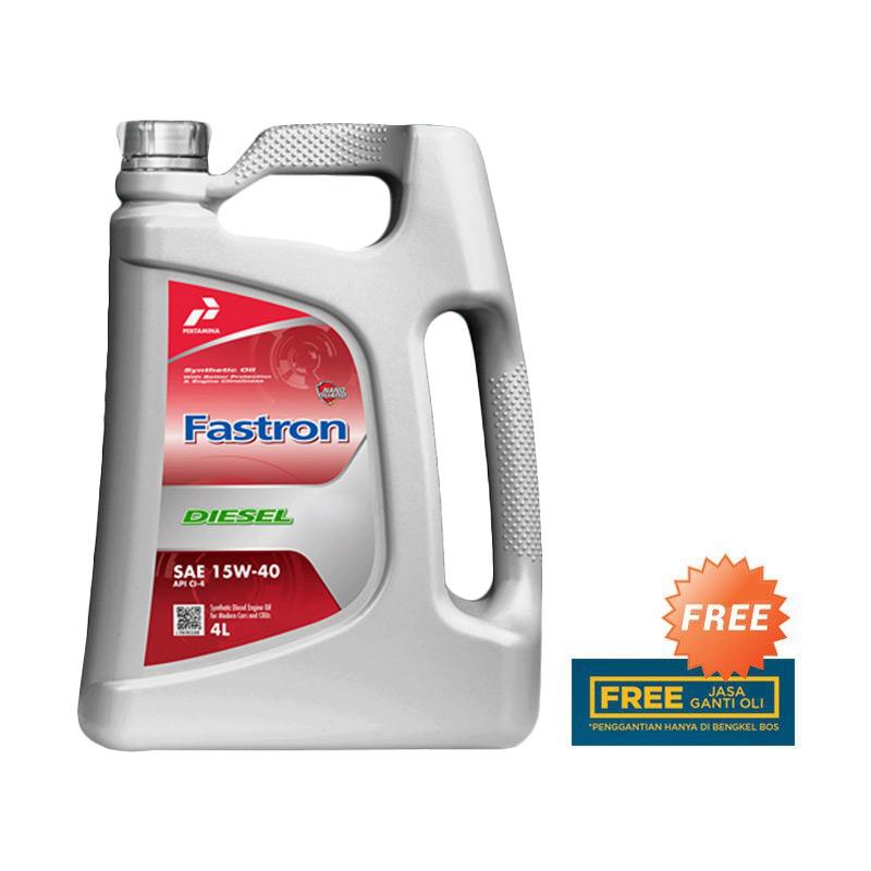 Jual Pertamina 15W 40 Fastron Diesel Oli 4 Liter Online