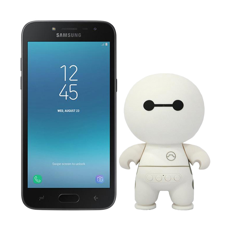 Samsung Galaxy J2 Pro Smartphone - Black [16 GB/1.5 GB] + Baymax Bluetooth Speaker