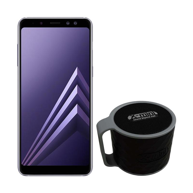 Samsung Galaxy A8 Smartphone - Orchid Gray [32GB/ 4GB] + Free Xmini Speaker