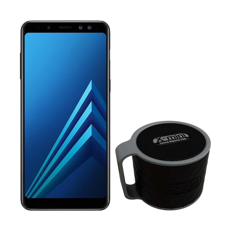 Samsung Galaxy A8 Smartphone - Black [32GB/ 4GB/ 2018 Edition] + Free Xmini Speaker