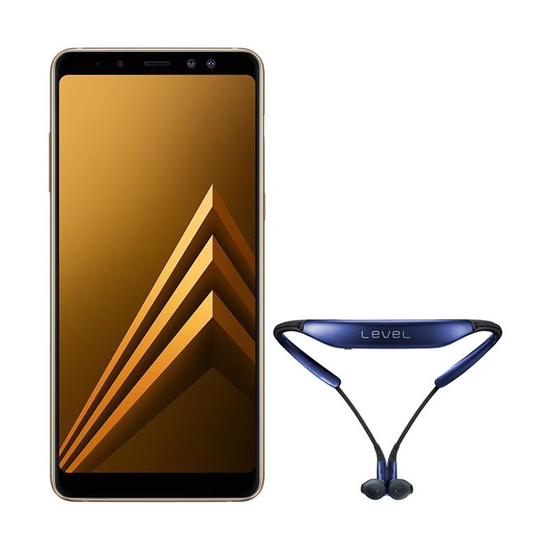 Samsung Galaxy A8+ Smartphone - Gold [64 GB/ 6 GB] + Level U