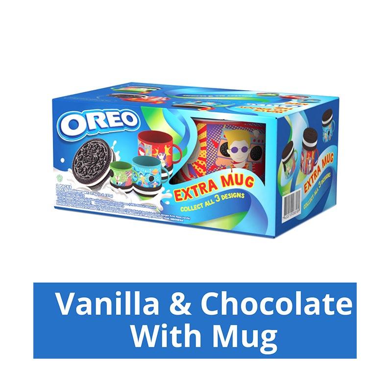 harga Oreo Biskuit Bento Vanilla Chocolate Free Mug [137 g] Blibli.com