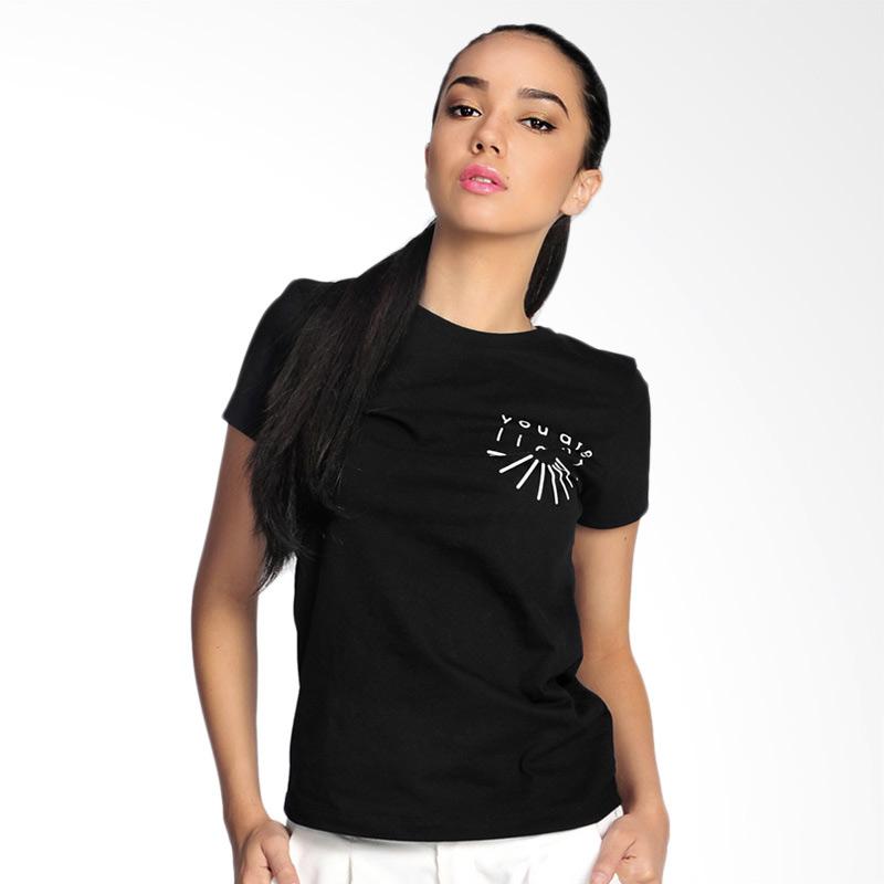 SJO & SIMPAPLY You Are Light T-Shirt Atasan Wanita - Black