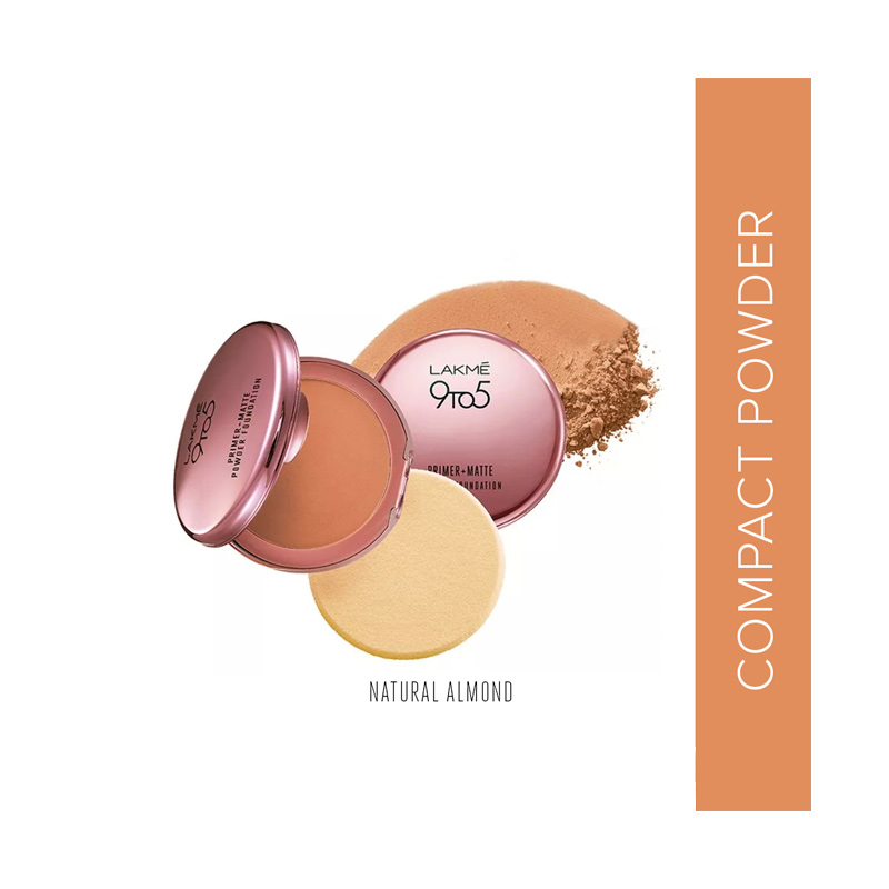 Lakme 9to5 Reinvent Primer Matte Powder Foundation Compact