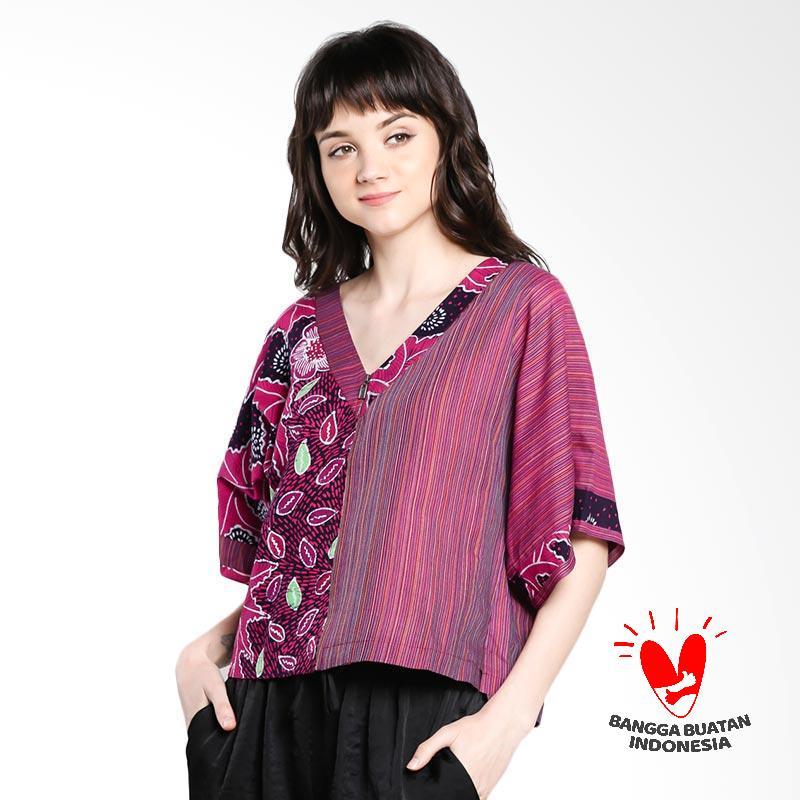 harga Lombang Batik by Yati Law Blus Rets Jaket Blouse Atasan Wanita - Pink Blibli.com