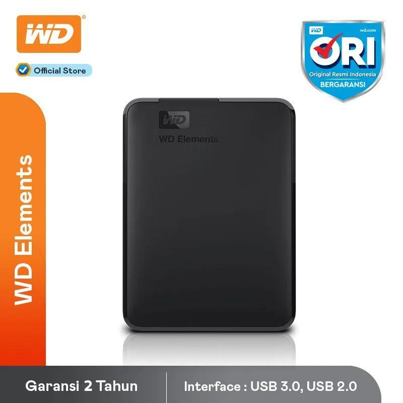 Western Digital Element 1TB Harddisk Eksternal 2.5 Inch Black Bold Black