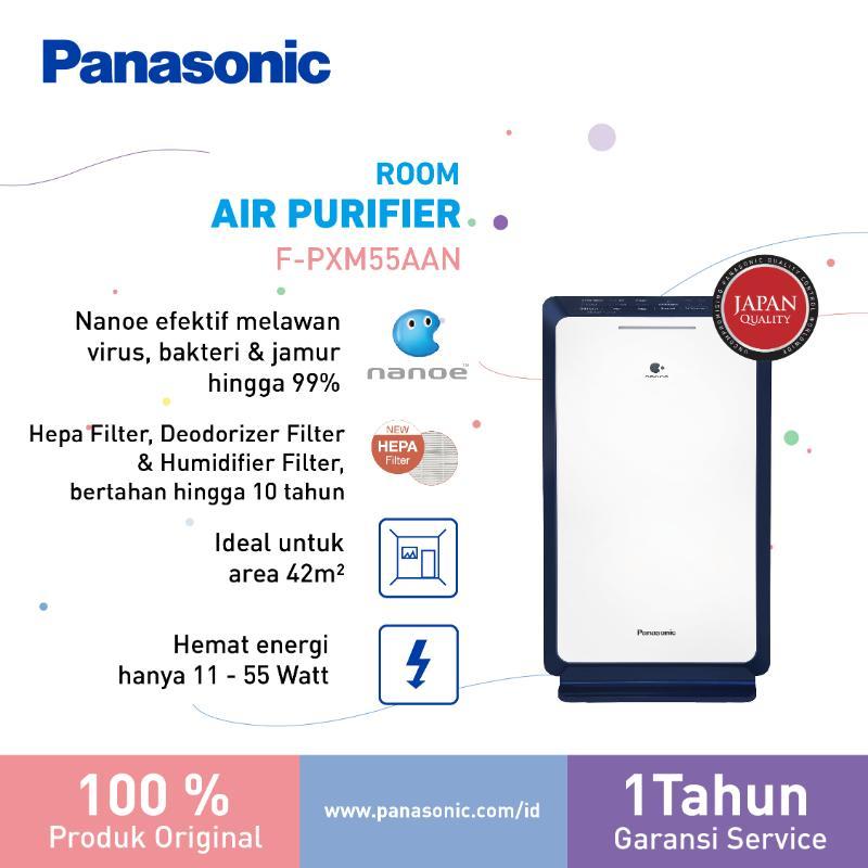 Panasonic F PXM55AAN Nanoe Air Purifier 42m2 Blue