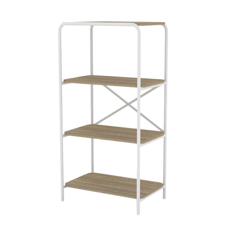 Zyo JEJU Series BC 6006 BLI Book Cabinet Sonoma Oak White