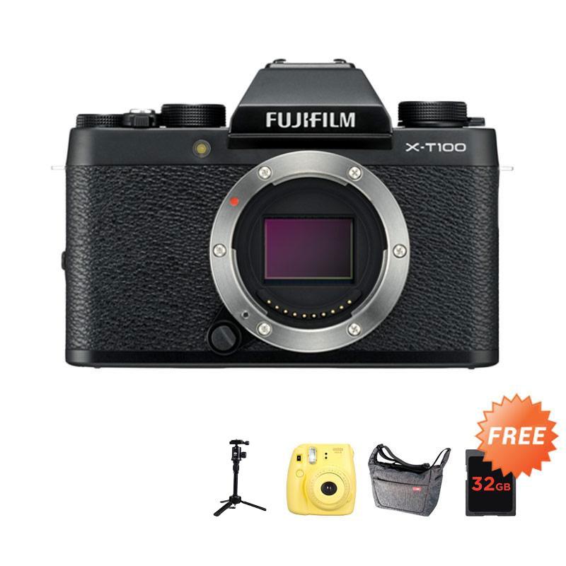 harga Pre Order Fujifilm X-T100 BO Kamera Mirrorless + Free Instax Mini 8 + Sirui Sling Lite 8 + SDHC Sandisk Extreme 32GB + Tripod Sirui 3T-35K Blibli.com