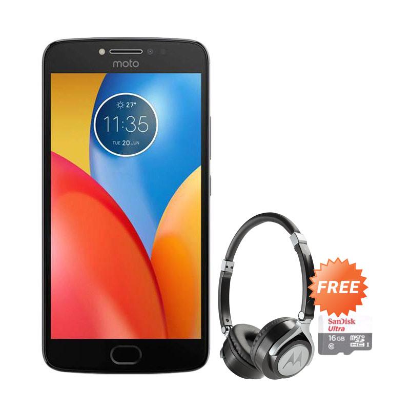 Motorola Moto E4 Plus Smartphone Grey 32GB 3GB Motorola Pulse 2 On Ear Wired Headphone Sandisk ultra SDSQUNS 016G GN3MN Class10 16GB