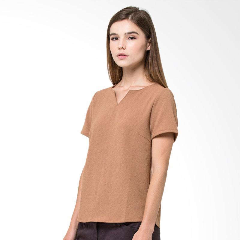 The Executive 5 Bskbbx418A001 Short Sleeve Blouse Wanita Camel