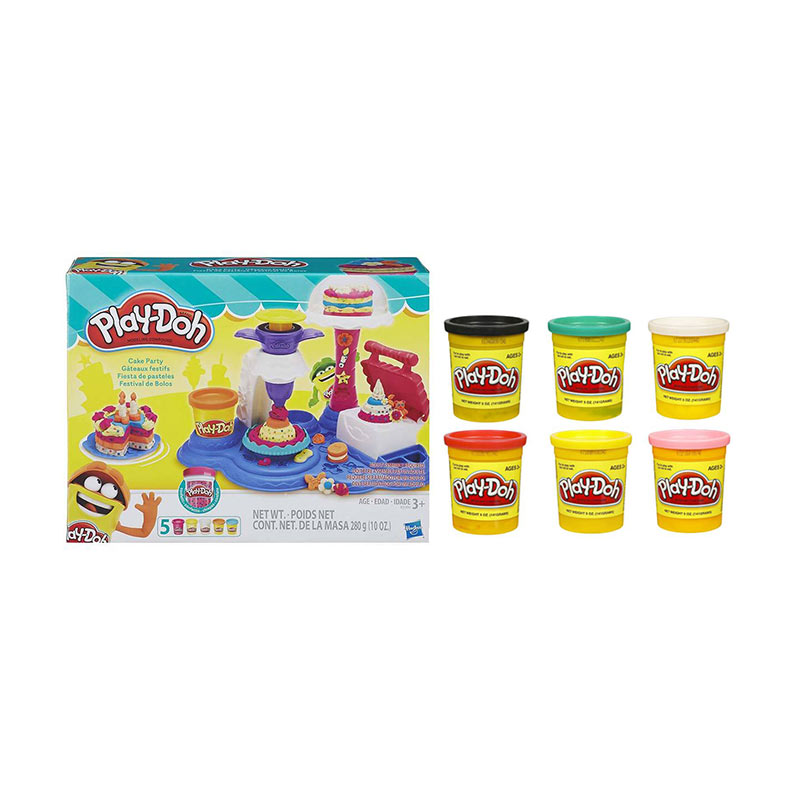 Playdoh Cake Party 6 Playdoh Single Tub Mix Colour