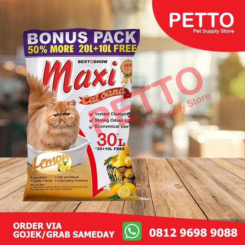 Best In Show Maxi Cat Sand Lemon Pasir Kucing 30 L