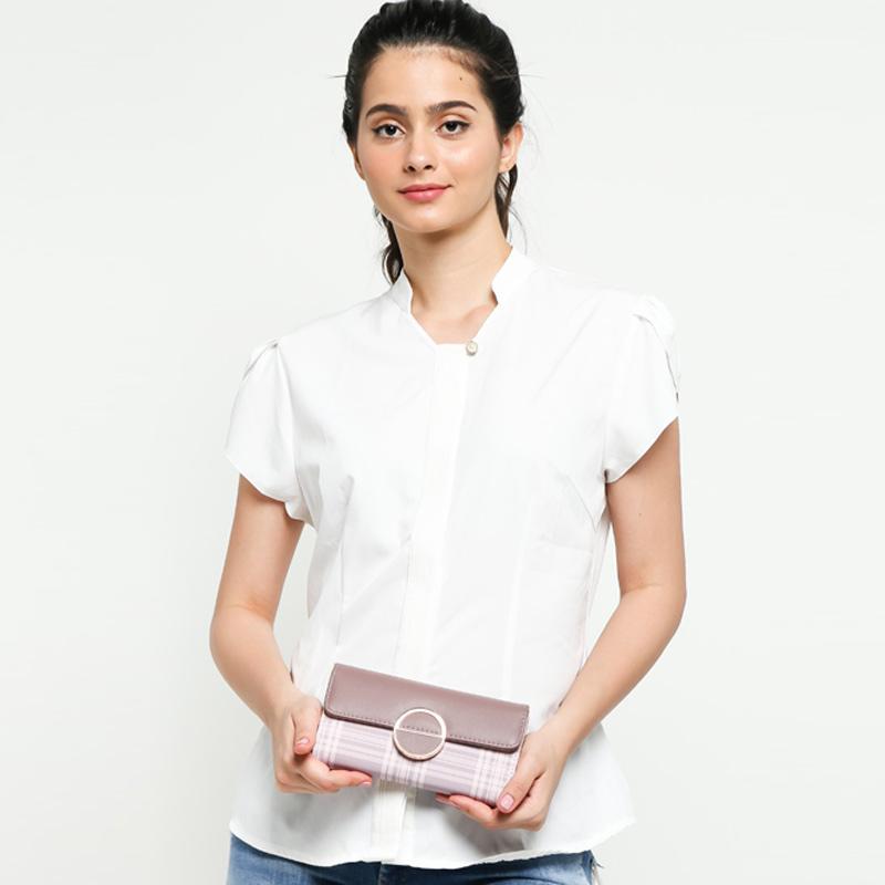 Ben Bella BQ01 658 Lantana Wallet Dompet Wanita Pink