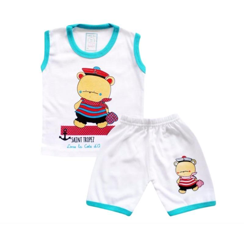 Skabe Baby Putih 2500 Setelan Baju Singlet Anak Bayi Laki-Laki