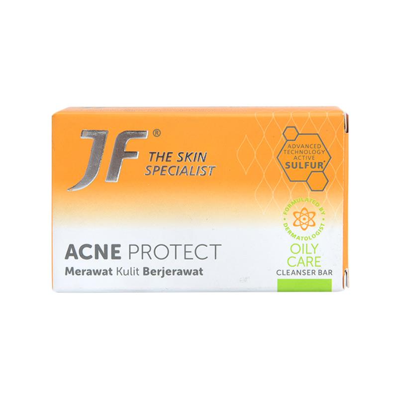 harga Groceries - JF Cleanser Bar Acne Protect Green Sensation Oily Care Sabun Wajah [65 g] Blibli.com