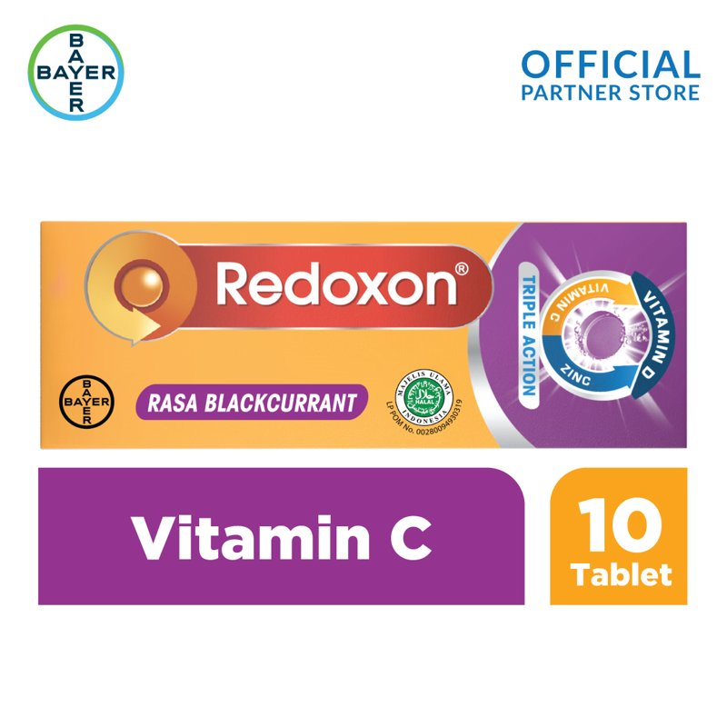 Redoxon Vitamin C Zinc Rasa Blackcurrant Multivitamin