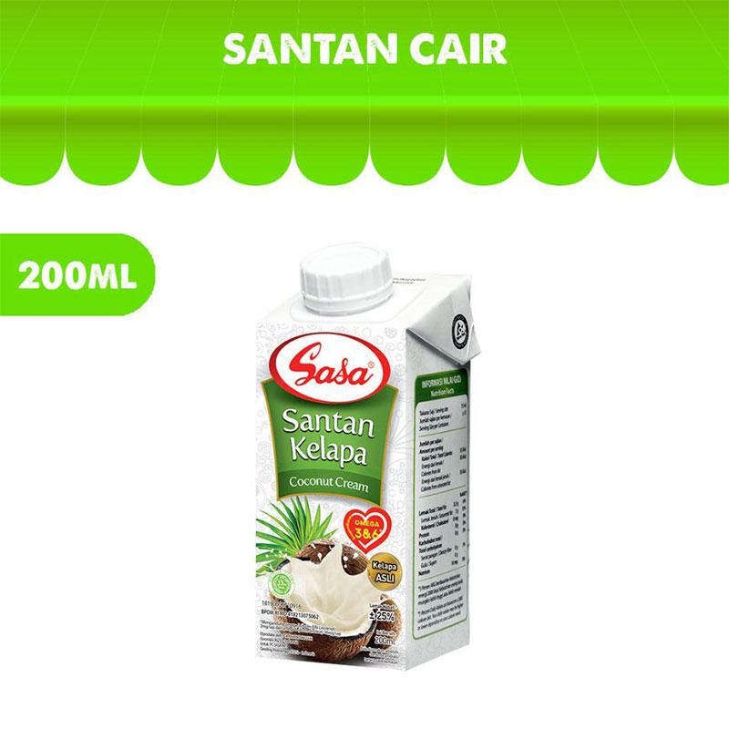 harga SASA Santan Cair [200 mL] Blibli.com
