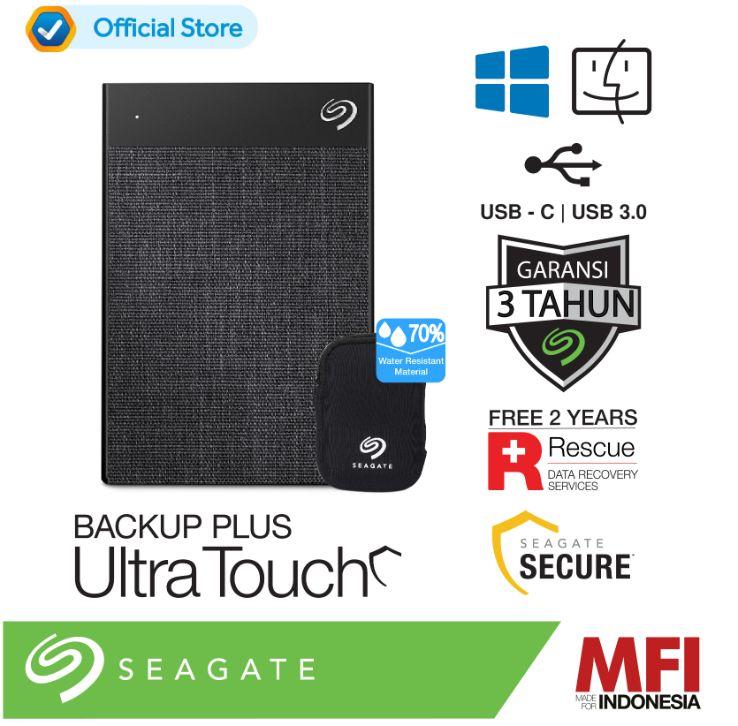 Seagate Ultra Touch Type C 2TB Portable Hardisk Eksternal USB3 0