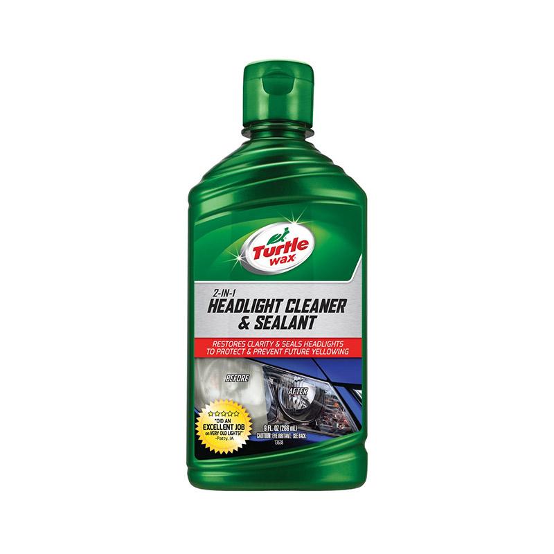 Turtle Wax Headlight Cleaner & Sealant Cairan Pembersih Eksterior Kendaraan [266 mL]