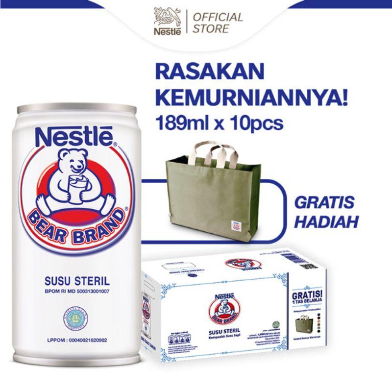 harga Bear Brand RTD Milk Kaleng Multipack Ramadhan Edition [189 mL/ 10 Pcs] + Free Shopping Bag Blibli.com