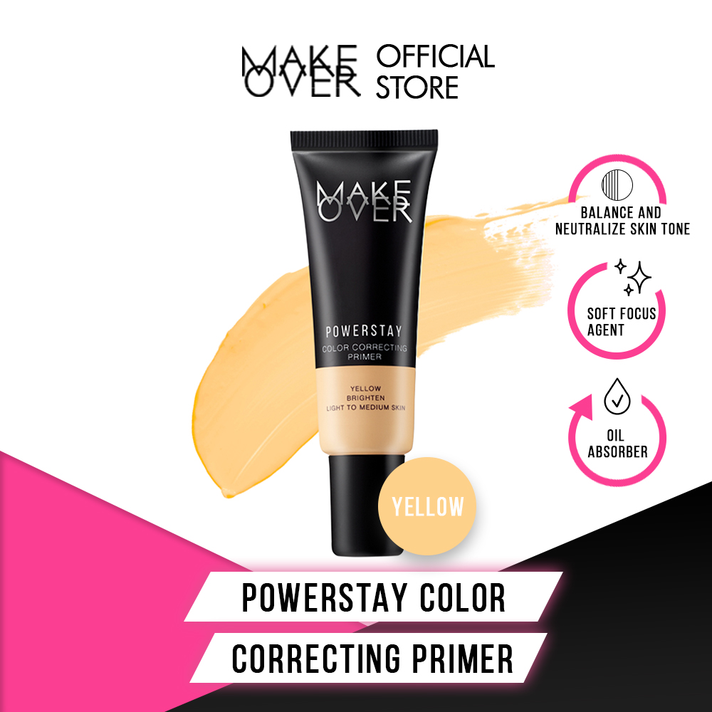 Make Over Powerstay Color Correcting Primer Yellow 25 mL