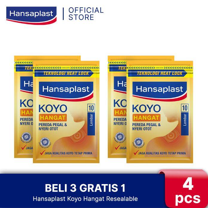 Hansaplast Koyo Hangat Resealable 10 s Beli 3 Gratis 1
