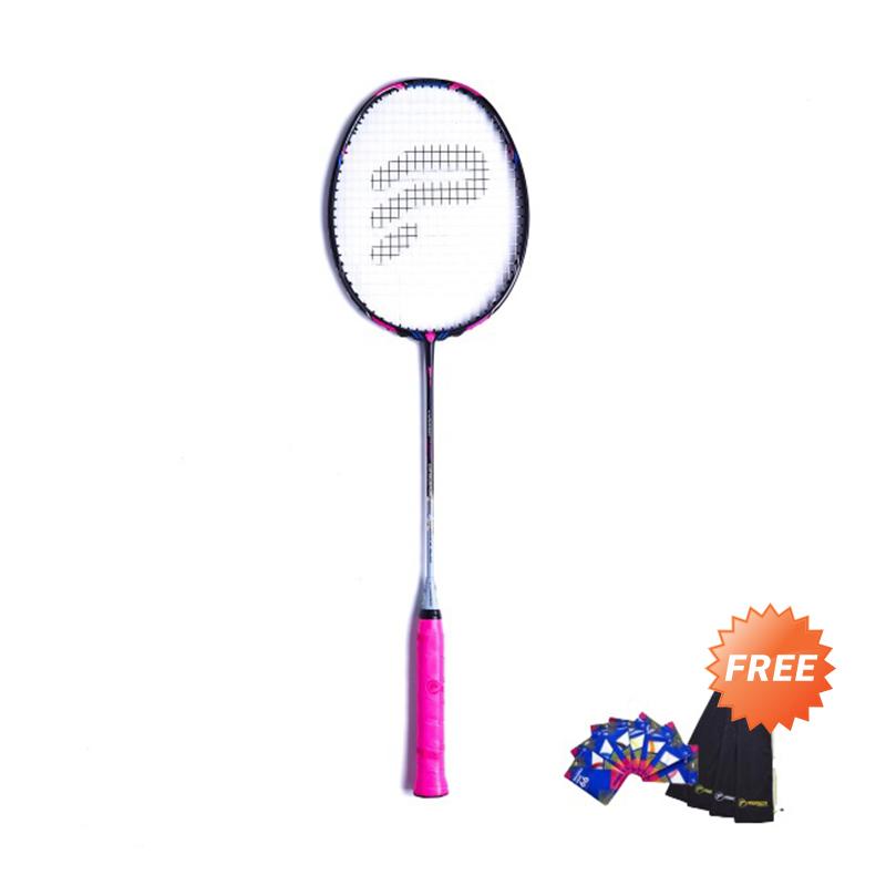 Protech Conqueror Ex Grand Slam Raket Badminton + Free Senar Protech Maxima Edge 66 + Tas Protech T-Sling Velvet