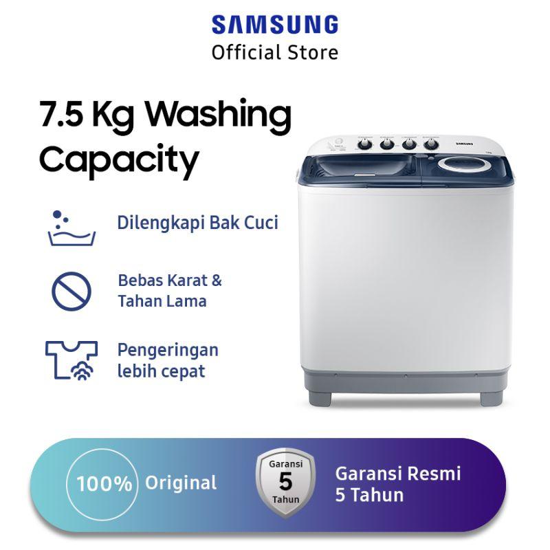 Samsung WT75H3210MB/SE Twin Tub Mesin Cuci [7.5 kg]