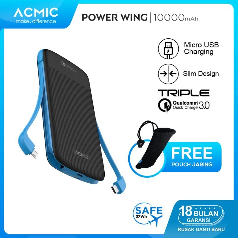 ACMIC Power Wing Power Bank 10000mAh Triple Quick Charge 3 0